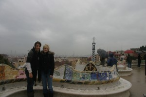 may and mel, parc guell, january 2010